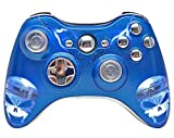 Illuminating Blue Skulls Xbox 360 Rapid Fire Modded Controller 35 Mode for BO2, BO3, Advanced Warfare, Destiny, Ghosts, MW3 Drop Shot Jump Shot Jitter by Xbox 360