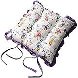 Homescapes galette de chaise volante motif fleur r tro - Galette de chaise volantee ...