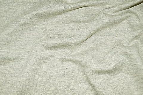 Coupe molleton gris chiné fin, souple et stretch