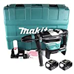 Makita DHR 400 M2U 2 x 18 V / 36 V Li-Ion Akku Bohrhammer Kombihammer SDS-Max im Koffer + 2 x 4,0 Ah Akku – ohne…