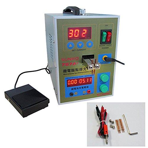 cgoldenwall LED Pulse PDA Akku Spot Welder Mikro Punktschweißung machine18650Micro Schweißen mit LED-Licht + Nickel + Akku Clamp 787A +