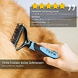 PetPäl Wohlfühl Hundebürste | Effektive Unterwollbürste | Massage Fell-Entfilzungsstriegel | Enthaarungs-Bürste | deShedding | Universal-Striegel für Mittel bis Langhaar | Schmerzfreies Ausdünnen | Effiziente Fellpflege | 2 Gratis Abstracts | 100% PetPäl-Zufriedenheitsgarantie (Blau) - 5