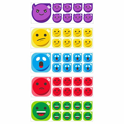 Emoticons Smiley Set 5 x für Scrum Board oder Kanban Board