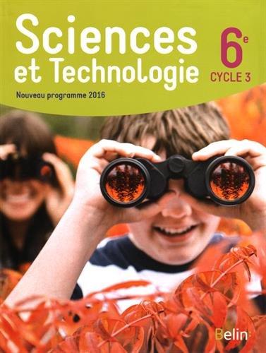 Sciences Et Technologie 6e Cycle 3 Livre De L Eleve Format