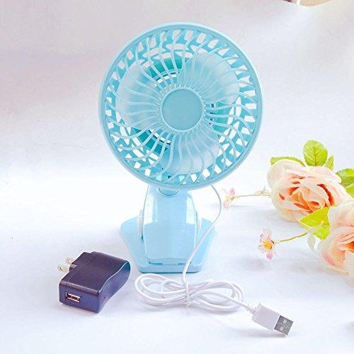SL&LFJ Mini Tower Fan,3 ruhige Geschwindigkeit und Modi Glatt oszillierende bladeless Air Conditioner Fan Ruhig USB-Zuhause und im Büro Dual Clips Fan Stand-D 22.5x13x11.5cm(9x5x5inch) Air Conditioner Fan Motor