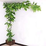 DMZH Mangobaum Rebe, Mangoförmige Blätter Künstliche Pflanzen, Home-Office-Dekoration Baum