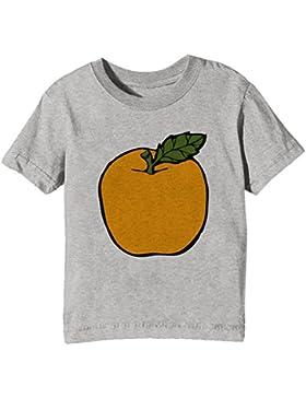 Naranja Niños Unisexo Niño Niña Camiseta Cuello Redondo Gris Manga Corta Todos Los Tamaños Kids Unisex Boys Girls...