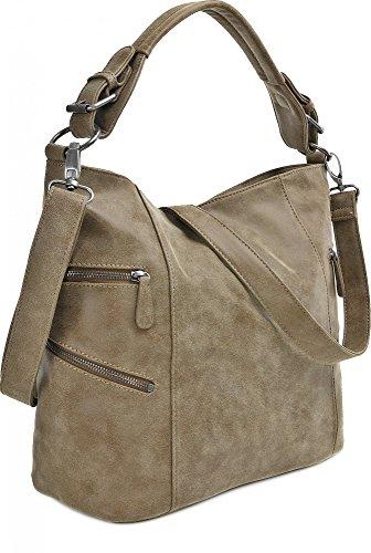 FRITZI AUS PREUSSEN, Damen Handtaschen, Shopper, Schultertaschen, Hobo-Bag, 41 x 30 x 17 cm (B x H x T) Braun