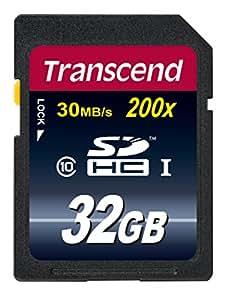 Transcend Extreme-Speed SDHC 32GB Class 10 Speicherkarte (bis 30MB/s Lesen) [Amazon Frustfreie Verpackung]