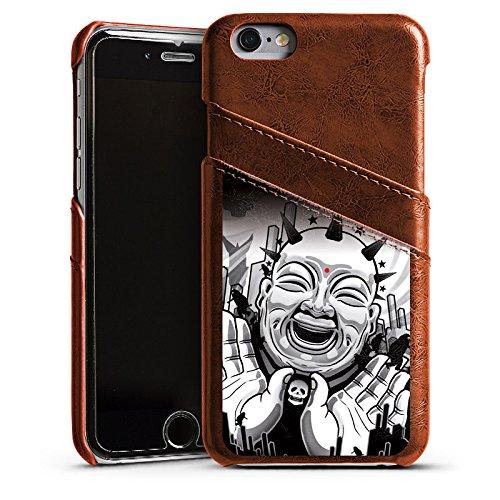 Apple iPhone 5 Housse Étui Silicone Coque Protection Noir et blanc Art Noir blanc Étui en cuir marron