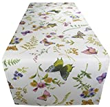 khevga Tischläufer Schmetterling für Frühjahr Sommer 40x 150 cm