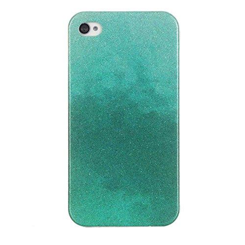 MOONCASE Ultra-thin TPU Silicone Housse Coque Etui Gel Case Cover Pour iPhone 4 4G / 4S café Mint Vert