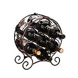 Portabottiglie da vino da esposizione europea in ferro battuto portabottiglie portabottiglie multi v