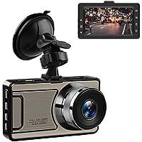 """Favoto Cámara de Coche Dash CAM Grabadora de Conducción HD 1920x1080P 12MP DVR 170° Gran Ángulo WDR Visión Nocturna con G-Sensor y 3"""" Pantalla Soporta Micro SD"""