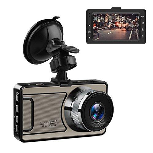 Favoto Autokamera Full HD Dashcam 1080P DVR Auto Kamera 3 Zoll mit 170° Weitwinkelobjektiv, WDR, Bewegungserkennung,Loop-Aufnahme, Nachtsicht und G-Sensor