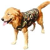 DUOZE Perro De Gran Tamaño Chaleco Abrigo Ropa Para Perros Ropa Para Mascotas Gruesa Camuflaje,Green-30