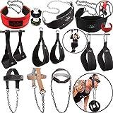 C.P. Sports Dip Gürtel/Bauchtrainingsschlaufen/Kopf- und Nackentrainer, Bodybuilding Fitness Crossfit Gewichtheben Gym Equipment Sport Zubehör