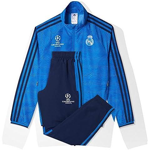 adidas Real Madrid CF EU PR SU Y - Chándal para niños, color azul marino / azul / blanco, talla