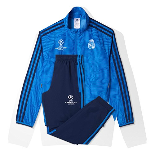 Adidas Real Madrid Chándal, niño, Marino/Azul / Blanco, 176