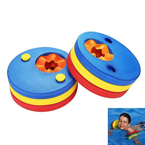 Pawaca 6pcs Baby Kids Swim Float Discs, Arm Band Set für Kinder Schwimmen lernen (Stück Arm 3 Rechten)