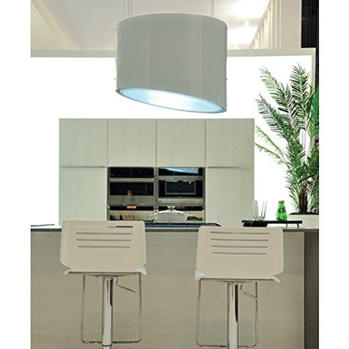 Falmec Spring E.ion System Design Dunstabzugshaube / Inselhaube / 5 Jahre Garantie / Weiß 80 cm / 600 m³/h