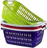 Wäschekorb Wäschekörbe Plastik Kunststsoff Wäsche Korb Farbauswahl (gute Qualität) (Lila)