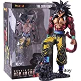 YanZiHuFuPin Dragon Ball Super Saiyan 4 Fils Gokou Fils Goku Manga Dimensions Version PVC Statue Figure Collection Modèle Jouet