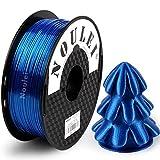 Noulei Filamento de para impresión 3d 1.75mm PLA, Silk SAPPHIRE BLUE Shiny Printing Filament 1KG 1 Spool