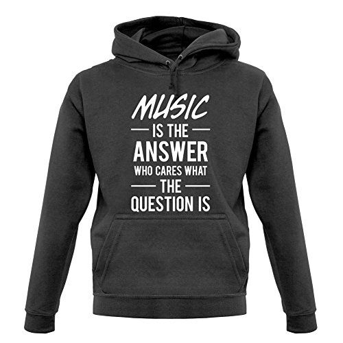 music-is-the-answer-unisex-pull-graphite-l