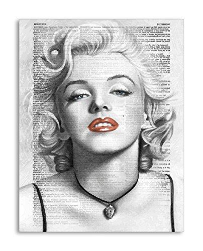 Per Diem Printing Marilyn Monroe Wörterbuch Kunstdruck