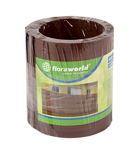 Floraworld 017398 Vision/Protection de Vent et Objet Comfort Lot de 5, Marron, 201,5 x 17 x 19 cm