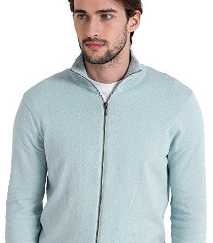 Wool Overs Gilet homme en Cachemire et Coton Pale Blue