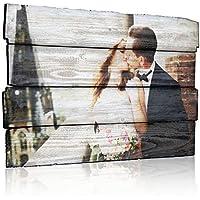 MEGADECOR Cuadro Impreso en PVC Efecto Tablas de Madera, 62 x 40 cm, con Fotografía Personalizada
