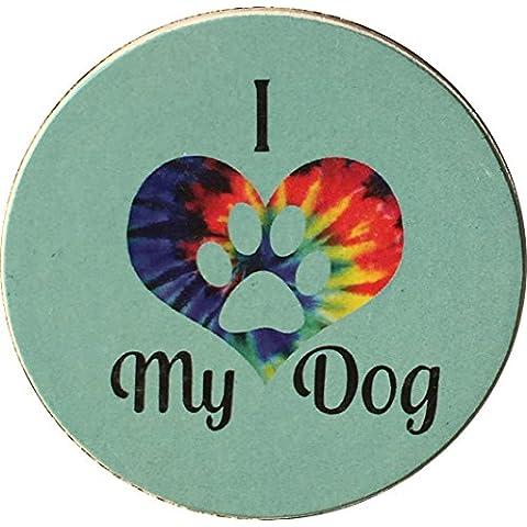 I Heart My Dog Love Tie Dye