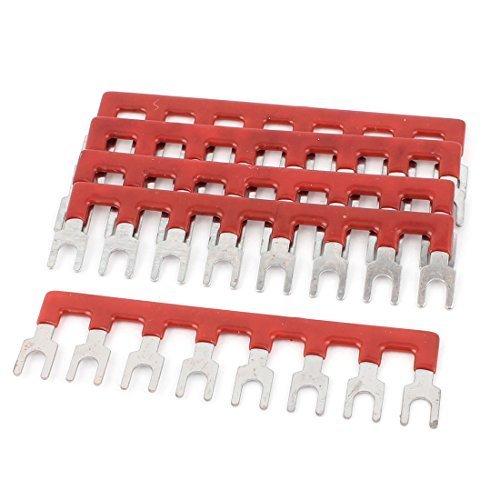 sourcingmap® 5 pezzi 8P Filo Connettore Del Cavo Tipo Di Forcella Terminale Barriera Blocco 600V 2