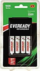 Eveready BP4C 700 NIMH Charger and 4 AA Rechargeable Battery (White)