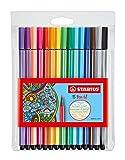 Premium-Filzstift - STABILO Pen 68-15er Pack - mit 15 verschiedenen Farben
