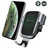 steanum Qi Ladestation Auto, Wireless Charger Auto Qi Handy Autohalterung Kompatible für iPhone XS Mas XS XR X 8 8Plus, Galaxy S9 S8 S7 S6, Note 5/8/9, Schwarz