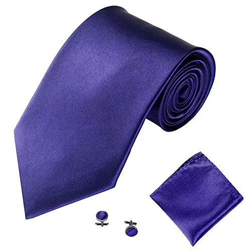 Xmiral Klassische Krawatte Herren Party Einstecktuch Taschentuch Manschettenknopf 3 STÜCKE(R)