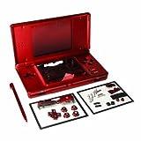 Full Set Ersatzteile Gehäuse Cover Case Ersatz für NDSL Nintendo DS Lite Konsole mit Knopf Kit rot