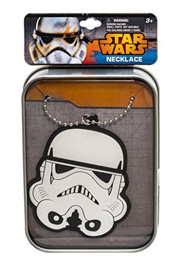 Star Wars 90121 - Stormtrooper Kette mit Vinylanhänger in bedruckter Sammeldose, Metall, 3 x 8 x 11 ()
