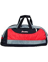Creation Polyster Red And Black Duffle Bag \\ Travlling Bag