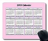 Yanteng 2019 Calendario Calendario Pad Mouse, Calendario scrivania Gaming tappetini per Mouse, Calendario 2019 con i Dettagli di Vacanza
