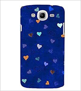 PrintDhaba Heart Pattern D-1471 Back Case Cover for SAMSUNG GALAXY MEGA 5.8 (Multi-Coloured)