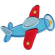 PatchMommy Parche Bordado Avion Parche Termoadhesivo - Parches y Apliques Infantiles
