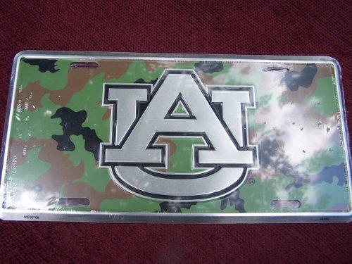 (6x 12) Auburn Universität Camo chrom NCAA Dose License Plate