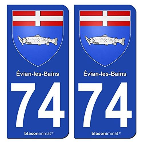 2-autocollants-plaque-dimmatriculation-auto-74500-evian-les-bains-armoiries