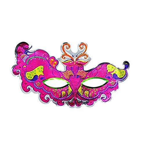 Gesichtsmaske Schild Schleier Wache Bildschirm Domino falsche Front Halloween Make-up Tanzmaske Horror Teufel schlauen Maske Partei,Pink
