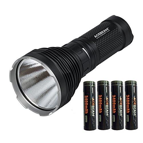 Preisvergleich Produktbild AceBeam K60 CREE XHP70 5000 Lumen 700 Meter LED Taschenlampe mit 3400mAh Aufladbare Akku