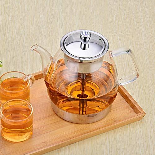POTOLL Teekanne mit Sieb Glas gedämpfte Teekanne kochendes Wasser Gesundheit Topf elektrische Keramikherd kochendem Teekanne Hochtemperatur-Dampftopf @ 1200ml (Für Topf Kochendes Wasser)